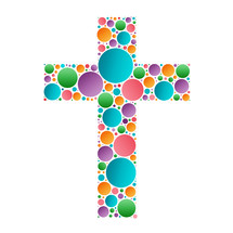 cross with circles