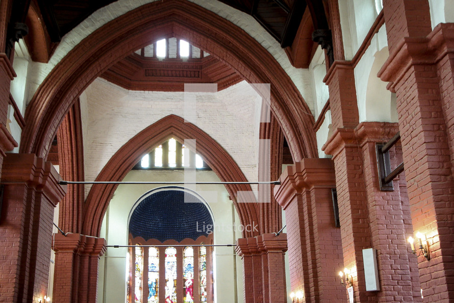 arches in a church