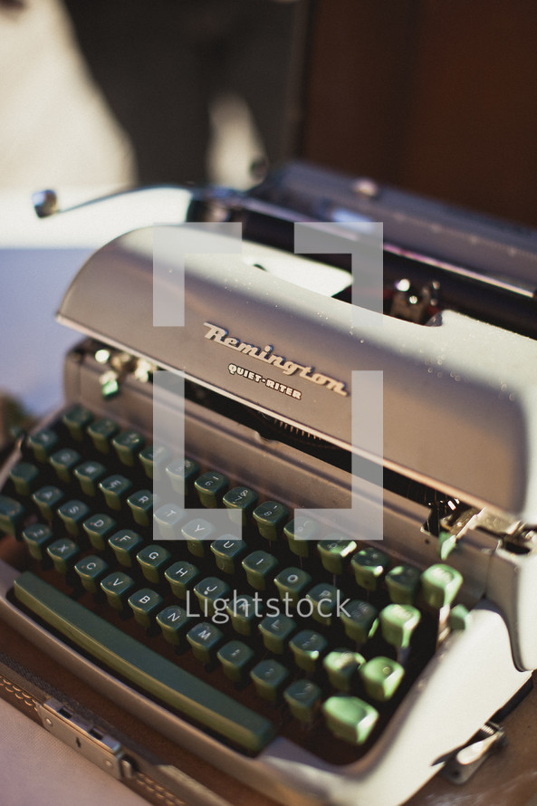 A Remington typewriter - Editorial use only