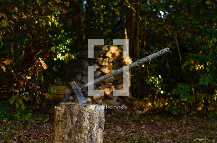 ax in a log