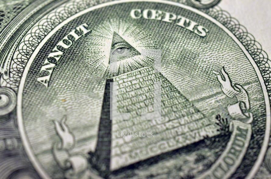 Pyramid on money