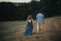 a couple walking away