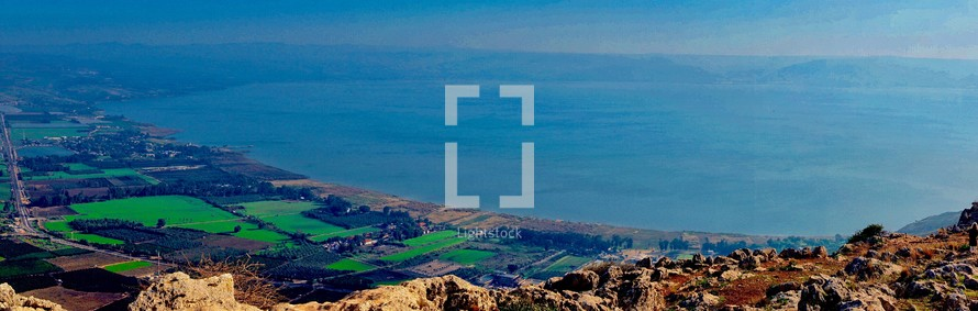 Photo is taken from the top of Mt. Arbel in Galilee
