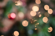 bokeh Christmas lights