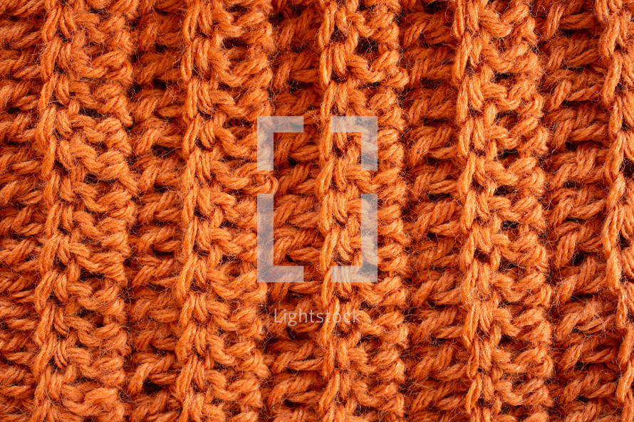 orange knit background