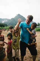 missionary and the faces of young children