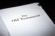 The Old Testament title page