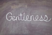 Gentleness written on a chalkboard