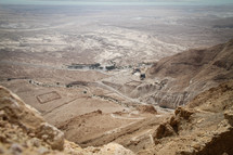 View of valley from Masada, Israel