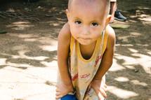 innocent eyes of a toddler boy