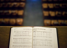 pages of a hymnal