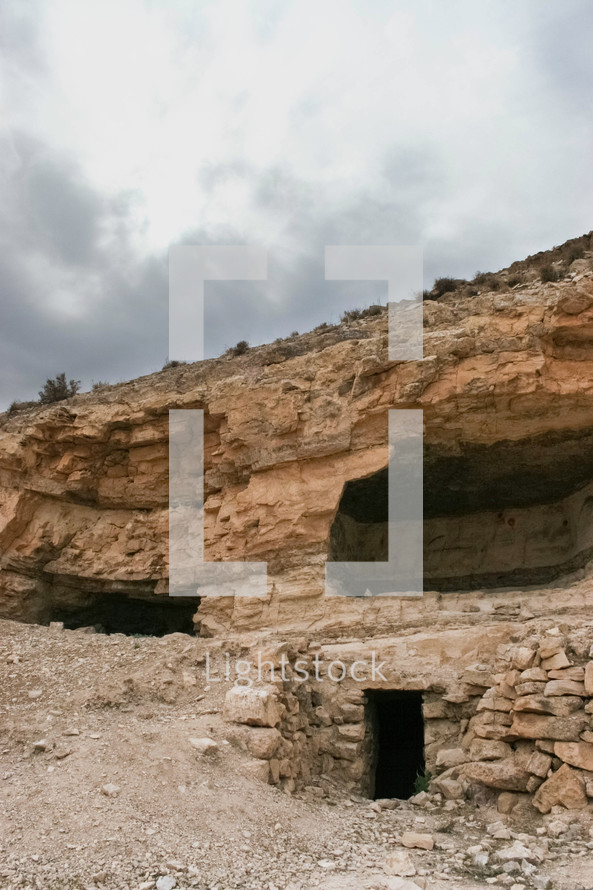 Caves beneath the hilltop fortress where it is believed John the Baptist was beheaded by Herod