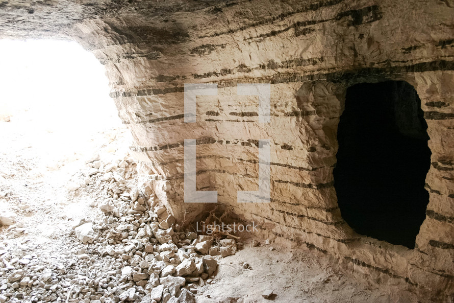 A cave beneath the hilltop fortress where it is believed John the Baptist was beheaded by Herod