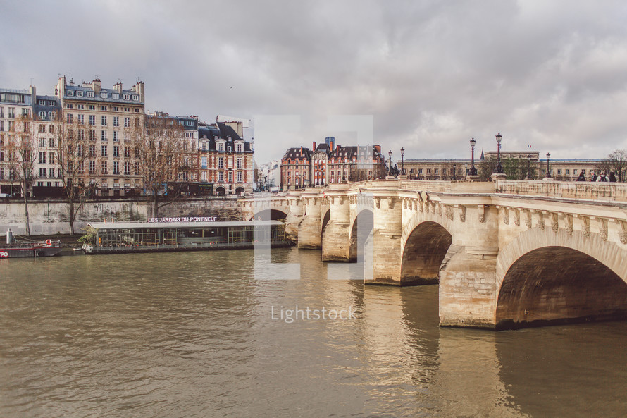 bridge over river in Paris