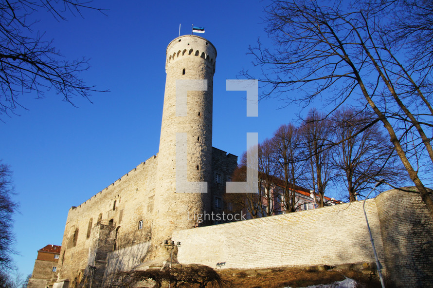 Castle Tower. Fortress, stronghold.