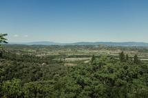 view of an Italian landscape