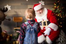 toddler boy with Santa Claus