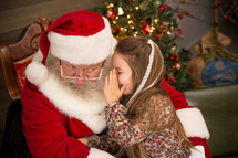 girl on Santa's lap