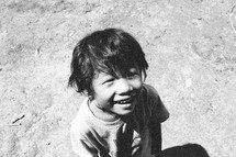 smiling face of a young boy