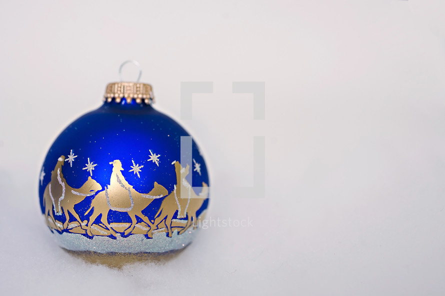 wise men on a Christmas ornament