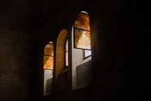 open windows in a church in Israel