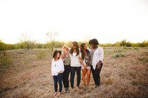 portrait, friends, friendship, African American, woman, standing, together, outdoors, young women