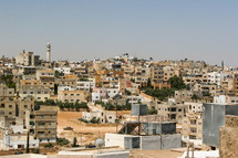 Buildings in a town in Jordan
