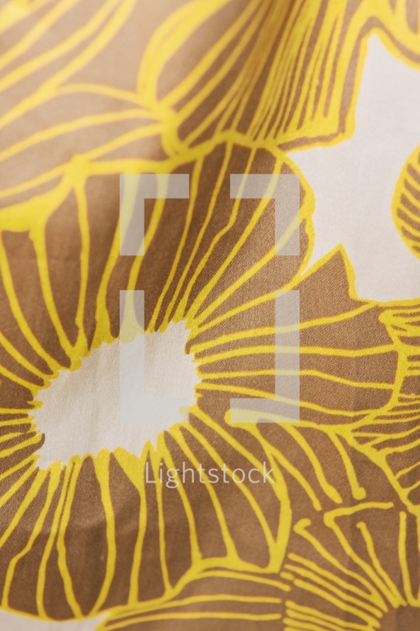 flower pattern on fabric