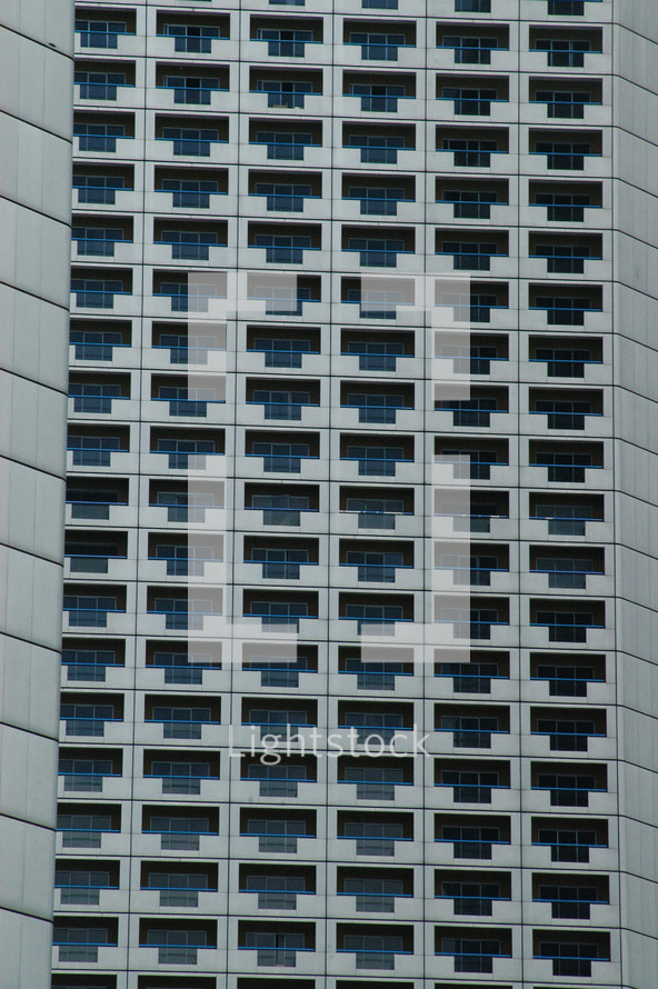 balconies on a sky scraper in Singapore