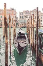 docked boat in Venice
