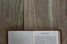 Bible opened to Genesis