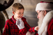 boy with Santa Claus