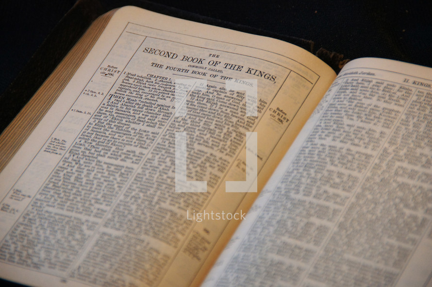 Open BIble in the book of Second Kings