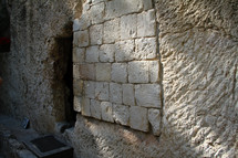 The Garden tomb in Jerusalem.