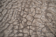 cracked dry clay soil
