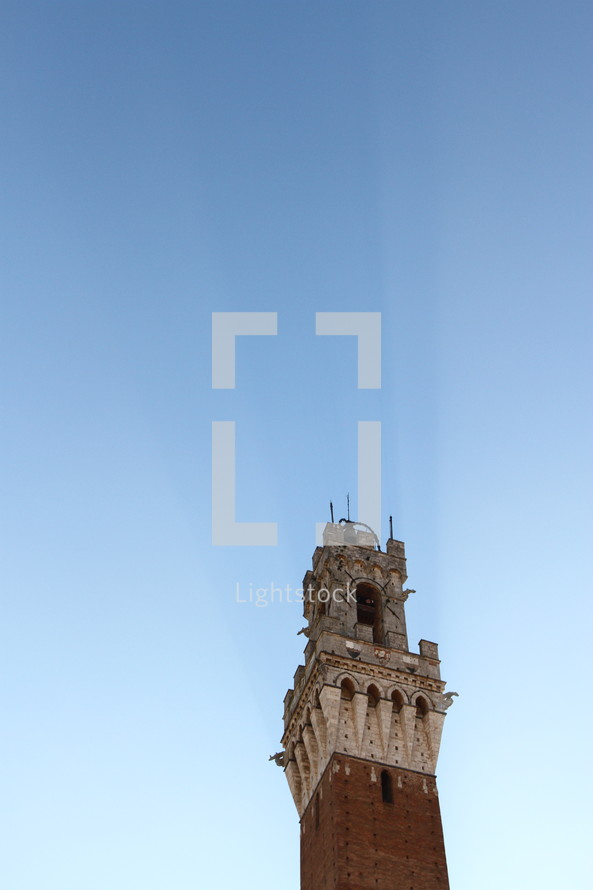 bell tower in a blue sky