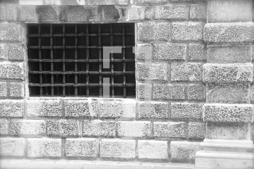 barred prison window