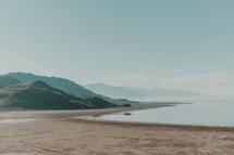 a sandy coastline