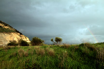 Rainbow over the Valley of Elah where David killed Goliath