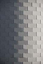 curved white brick wall