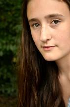 face of a teen girl