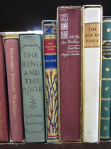 "Section of ""B"" author classic library books."