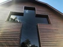 cross shaped window