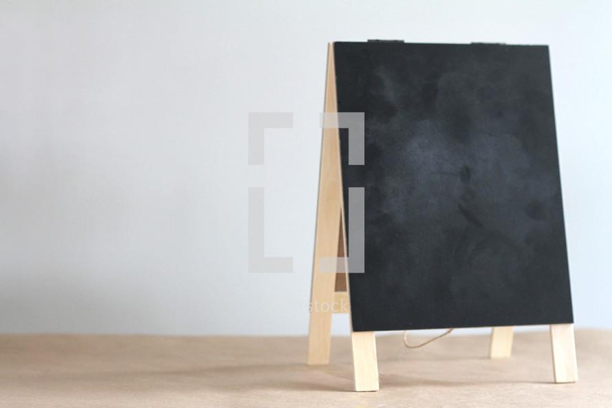 blank easel