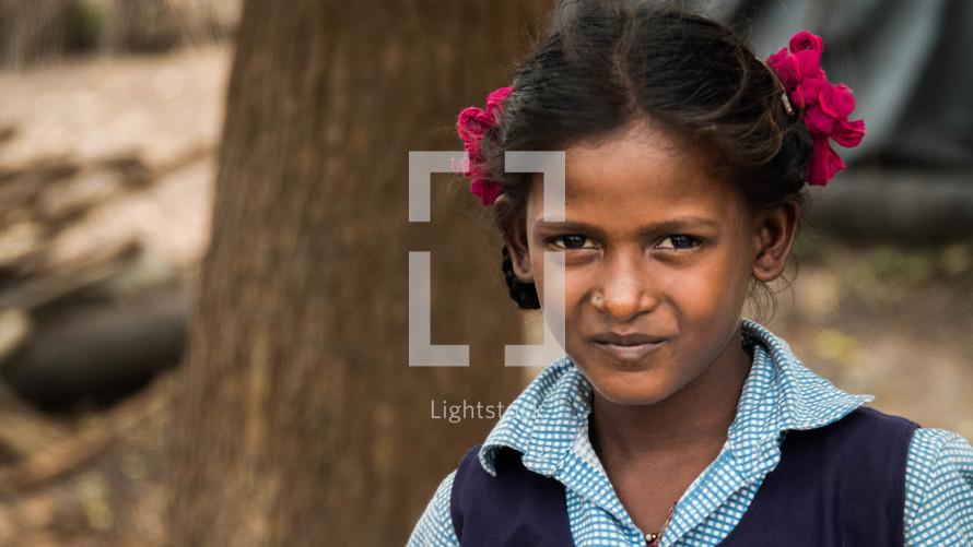 face of school girl