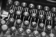 Vintage manual typewriter keyboard