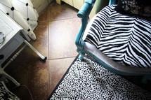 zebra print chair