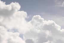 Clouds in the sky.