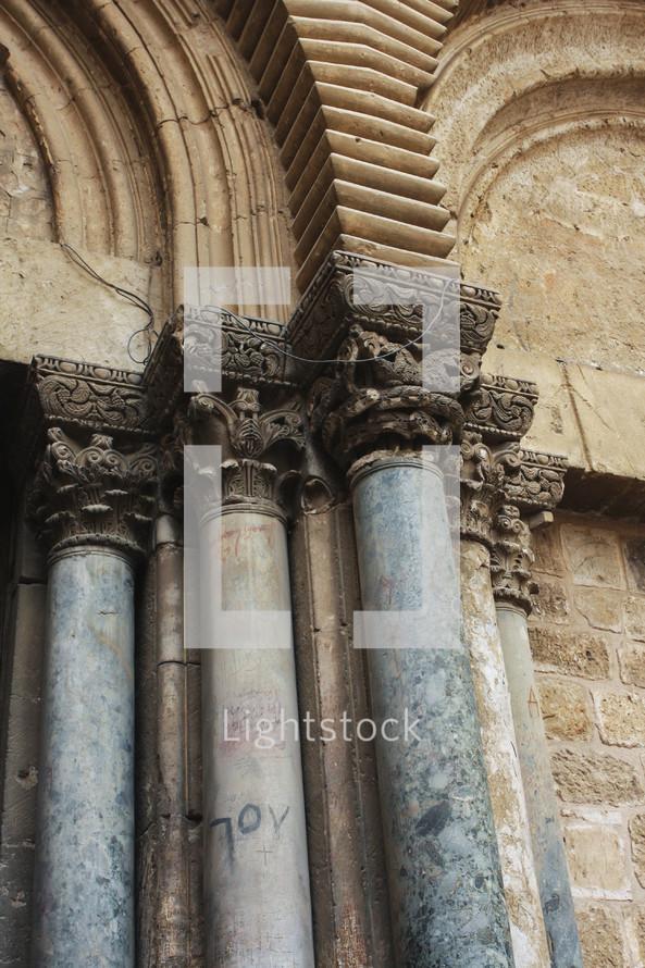 old columns in Israel