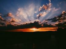A golden sunset.